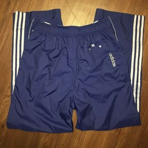 Adidas Mens Windbreaker Pants XL Blue and Grey